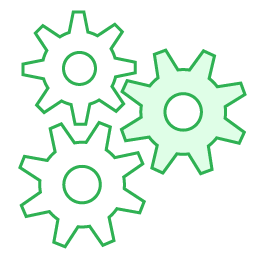 Icon automated green 2x